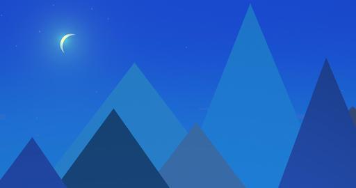 Flatland Backgrounds - Pyramids NIGHT Animación