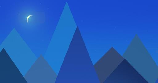Flatland Backgrounds - Pyramids NIGHT Stock Video Footage