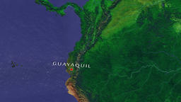Guayaquil - Ecuador zoom in from space Animation
