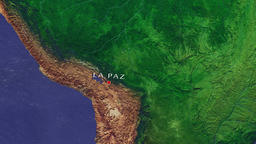 La Paz - Bolivia zoom in from space Animation