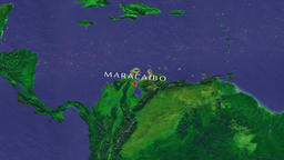 Maracaibo - Venezuela zoom in from space Animation