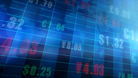 Global Currency Exchange Rates Stock Video Footage