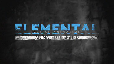 Dirty Glitch Titles 2 After Effects Projekt