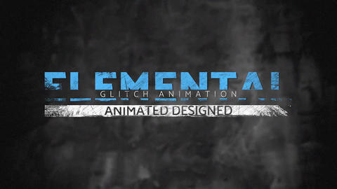 Dirty Glitch Titles 2 After Effects Template