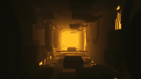 Abstract Hi Tech Tunnel Animation