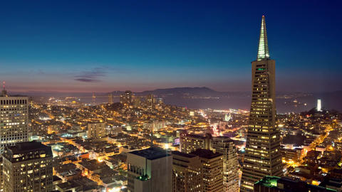 Time Lapse San Francisco Skyline Footage