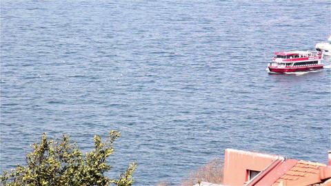 istanbul bosphorus ship moving at sea Footage