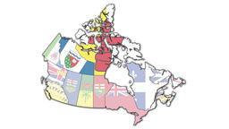 Animated administration map of canada GIF