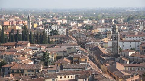 Verona old city aerial view Footage