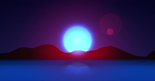 Flatland Backgrounds - Another Planet NIGHT Animation