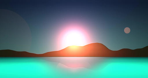 Flatland Backgrounds - Another Planet DAY Stock Video Footage
