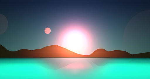 Flatland Backgrounds - Another Planet DAY Animation