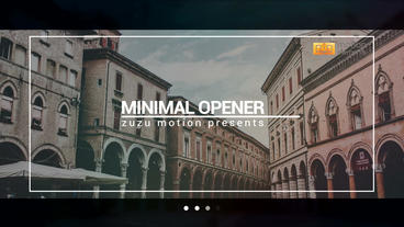 Minimal Opener After Effects Projekt