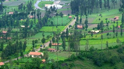 Small village located at foot of Bromo volcano. East Java, indonesia Footage