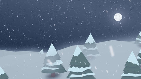 Polygonal Winter Snowfall - Motion Background Animation Animation
