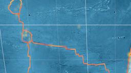 Juan Fernandez tectonics featured. Satellite imagery. Kavrayskiy VII projection Animation