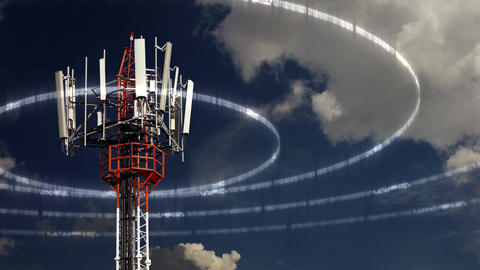 Mobile Telecommunication Tower Stock Video Footage