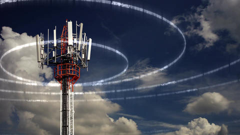 Mobile Telecommunication Tower Animación
