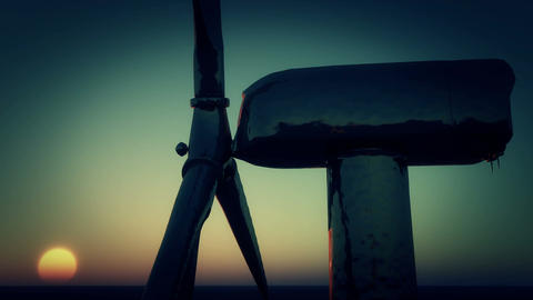 4k Windmill Turbines Clean At Sunset,Green Wind Energy,new power Live Action