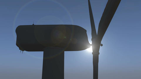 4k Windmill Turbines Clean with sun,Green Wind Energy,new power Live Action