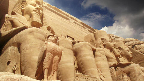 Temples of Abu Simbel Egypt Animation