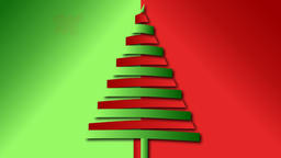 Christmas wish from red and green bended papers Animation