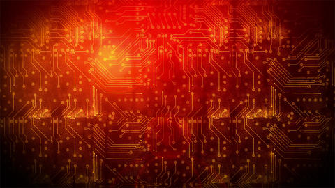 Grunge Circuit Board 4 Animation
