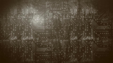 Grunge Circuit Board 5 Animation
