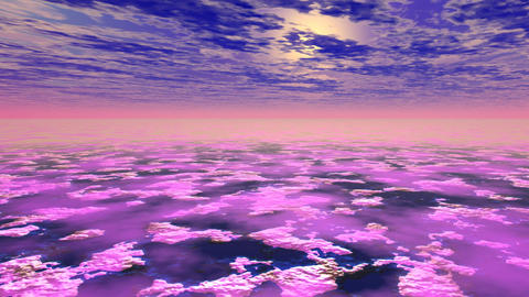 abstract violet landscape Animation