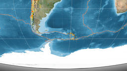 Scotia tectonics featured. Satellite imagery. Mollweide projection Animation