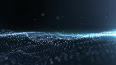 Digital Wave Particle Form for Digital Background Animation
