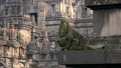 Hindu mythological creature, Candi Prambanan temple complex, Java, Indonesia Live Action