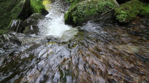 Water stream flowing among stones Filmmaterial