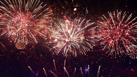 Video of amazing fireworks show in 4K Footage