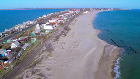 Strip of Coast Between the Sea and the River Footage