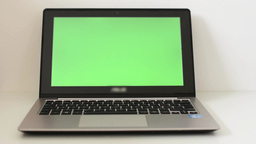 notebook - green screen - isolated Live Action