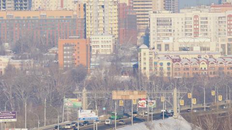 Traffic of vehicles at the Communal Bridge Footage