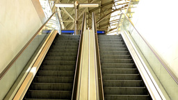 escalators in the train station Footage