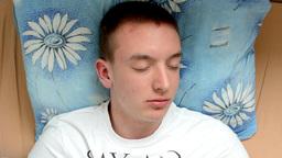 man sleeps (resting) Footage