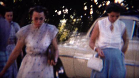 1951: Sassy 50's women meetup at sunset party spot ビデオ