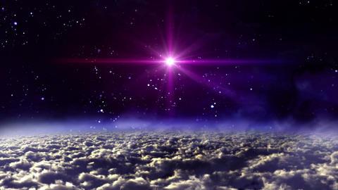 space night star cross Animation