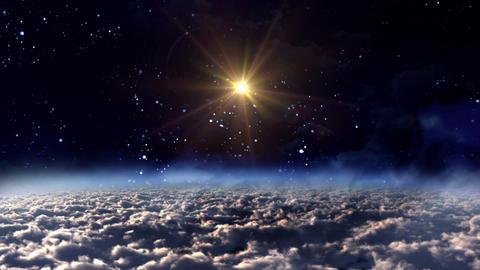 space night yellow star glow Animation