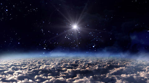 space night star Animation