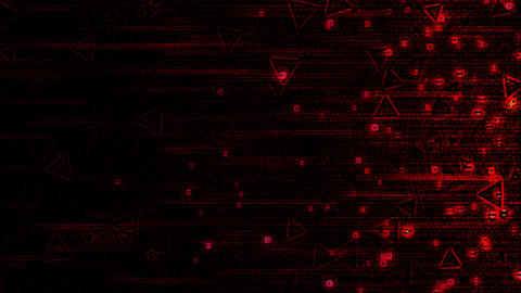 Abstract Triangle Particle Background Animation - Loop Red Animation