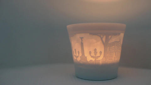 Burning candlestick Footage