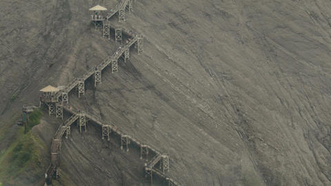 Panoramic Stairs on Mountain Footage