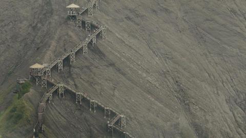Panoramic Stairs on Mountain Footage