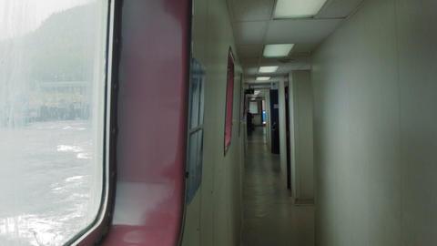 Empty corridor on Ferry Footage