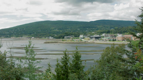 Panoramic view of Baie Saint Paul Footage