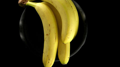 Bananas on a black background Footage